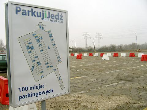 P+R na Jagielloñskiej otwarty, ale kto o nim wie?