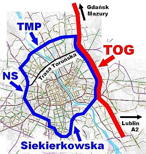 Chc± wykre¶liæ trasê Olszynki z planów miejscowych