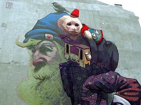 Tu wola niecodzienny mural na dzielnej for Mural legionowo