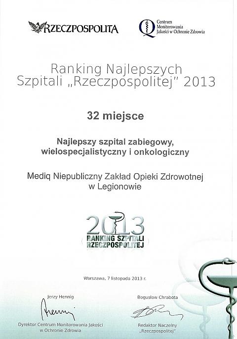 """""""Rzeczpospolita"""": Mediq - trzeci na Mazowszu"""