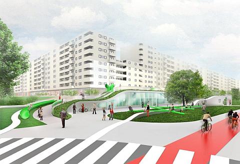 Zielony asfalt na Bemowie? Na skrzy¿owaniu Powstañców i Górczewskiej