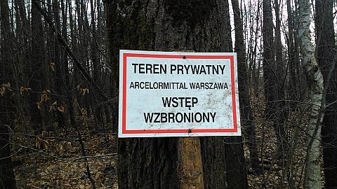 Park Nowa Warszawa - teren prywatny. Chodziæ nie mo¿na?