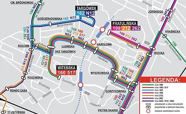 Metro na Targówku. Zmiany tras, objazdy, trzy lata utrudnieñ