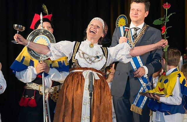 Zofia Marcinek z Bemowa z Orderem U¶miechu