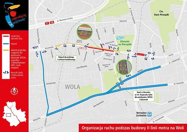 Budowa metra na Woli. Zostaw auto przy Wola Parku