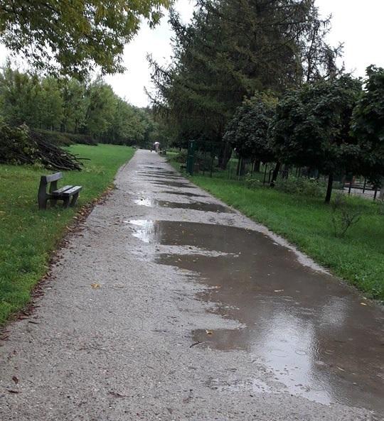 """Deszcze potarga³y park Górczewska. """"Nie da siê przej¶æ"""""""