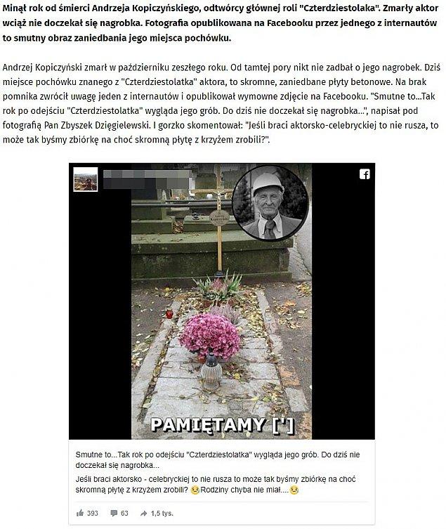 """Grób """"Czterdziestolatka"""", czyli polskie dziennikarstwo w pigu³ce"""
