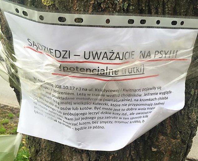 "Truciciel psów na Piaskach? ""Prosimy o ostro¿no¶æ"""