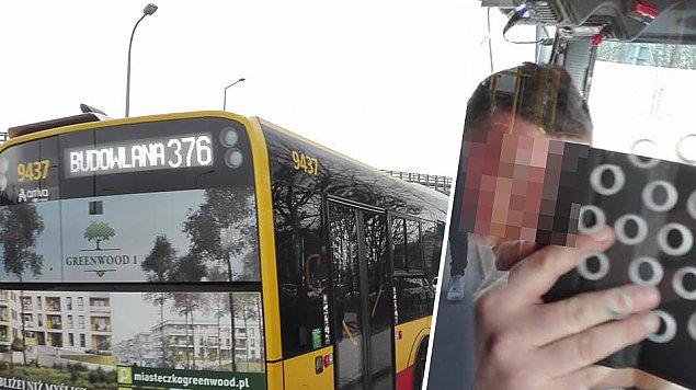 """Dziwna sytuacja w autobusie. """"B�dzie kara dla kierowcy"""""""