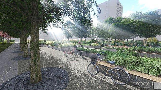 Oto nowy park przy Perzy�skiego. Strefa relaksu i kurtyna wodna