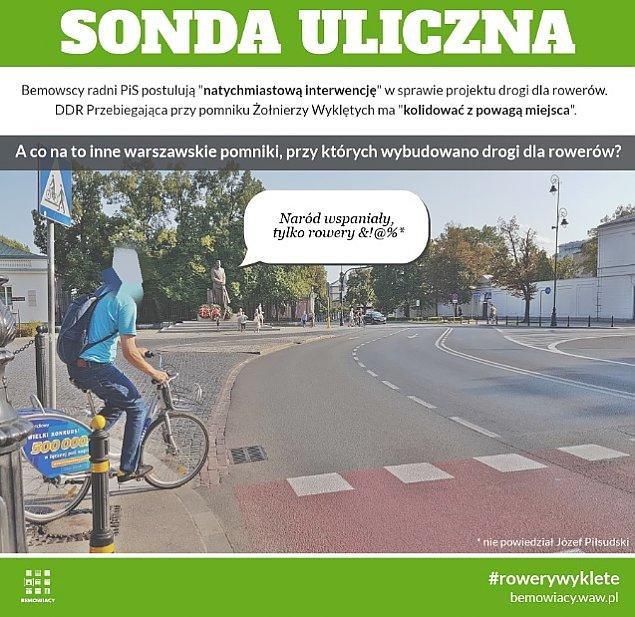 """PiS: """"Droga rowerowa koliduje z powag± pomnika"""""""
