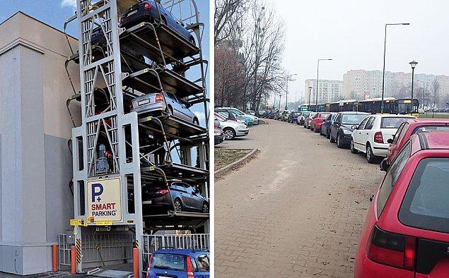 Pi�trowe parkingi dla Warszawy. Rozwi��� problemy?