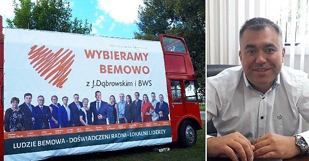 """Wystartowa³ autobus D±browskiego. """"Bêdzie o nas g³o¶no"""""""