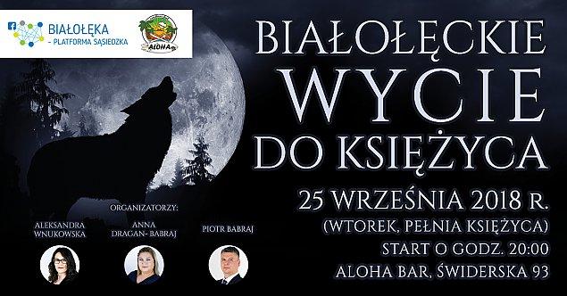 """""""Bia�o��ckie wycie do ksi�yca"""". Impreza na Tarchominie"""