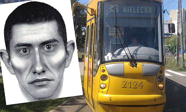 Zuchwa�a kradzie� w tramwaju. Policja szuka podejrzanego