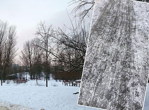 """""""Szklanka"""" w parku G�rczewska. """"Od�nie�ymy, jak przestanie pada�"""""""