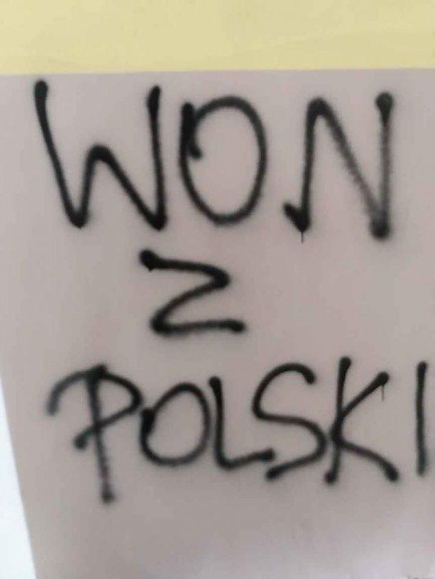 """""""Won z Polski"""". Antyukrai�skie bazgro�y na Woli"""