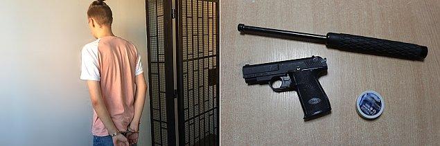 """Interwencja policji w Nadarzynie. """"Wyci�gn�� bro� i grozi�, �e ich zabije"""""""