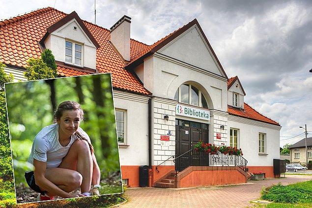 Natalia Tomasiak w nadarzyñskiej bibliotece