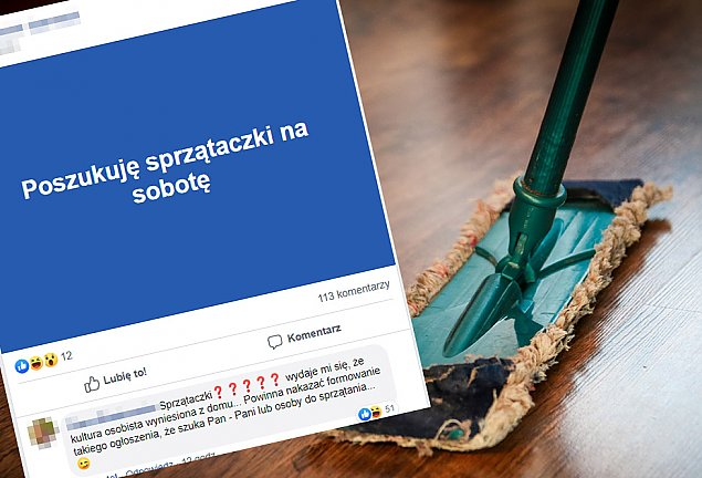 """""""Poszukuj� sprz�taczki na sobot�"""". Wirtualna afera w Warszawie"""