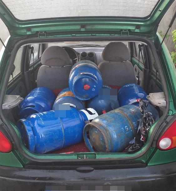 Z�odzieje butli gazowych w r�kach nadarzy�skiej policji