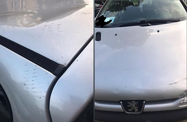 """Skakali po dachu samochodu? """"Pani ¼le zaparkowa³a"""""""