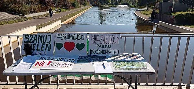 Nie wszyscy chc± lodowiska. Protest w parku Bródnowskim