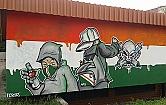 Imponuj�ce murale kibic�w Legii