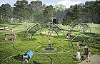 Park trampolin wyl�duje na Ceg�owskiej. Bez trampolin