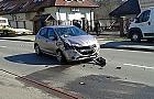 Niebezpieczny wypadek przed sklepem na Bohater�w