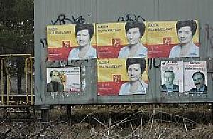 Wybory min�y, plakaty zosta�y