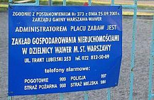 List do Informatora: place zabaw