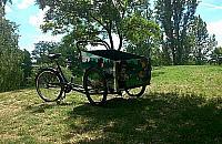 Pierwszy rower towarowy na Bemowie