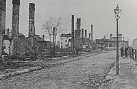 Spalona ulica Budowlana