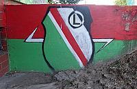 Nazistowski malunek na Szadkowskiego