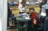 Protest przeciwko nowym blokom na Broniewskiego