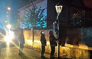 Wyciek gazu... z latarni ulicznej