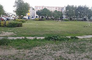 Si�ownia w plenerze na osiedlu Sobieskiego