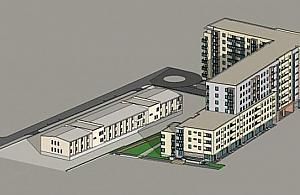 """Nowy blok komunalny: gara� na 162 samochody i """"szlachetne tynki"""""""