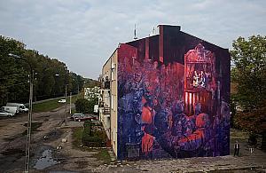 """""""System edukacji"""". Wspania³y mural na Targówku"""