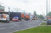 Ranni w wypadku na Annopolu. Tir zderzy³ siê z tramwajem