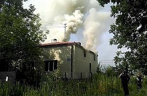 Po¿ar w domu na Nowodworach
