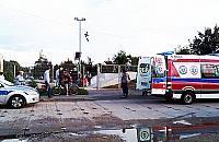 Policja i karetka w skateparku