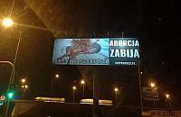 """Skandaliczny plakat przy Po³czyñskiej. """"Walczymy z aborcj±"""""""