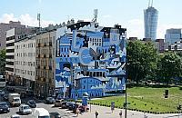"""Z cerkwi± i gazowni±. Nowy mural przy """"Solidarno¶ci"""""""