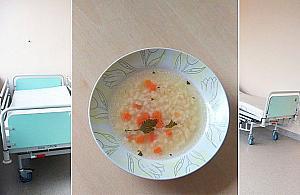 """Cienka zupa na obiad w szpitalu. """"G³odzenie pacjentów"""""""