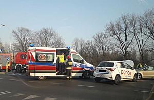 Powa�ny wypadek na Bia�o��ce. Dwie 13-latki ranne