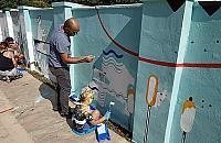 Murale przy Stawach Brustmana. Mieszka�cy zachwyceni