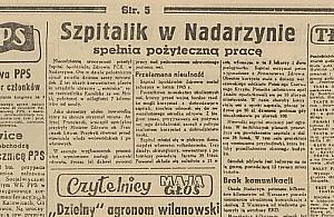 Wie�ci ze szpitala w Nadarzynie. By� rok 1946