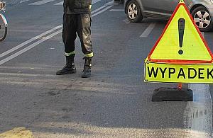 """Wypadek na Powsta�c�w. """"Wjecha� na czerwonym 100 km/h"""""""